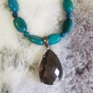 Smokey Quartz & Hematite Necklace